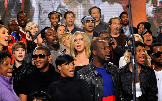 "Stars Record ""We Are the World"" Remake in Hollywood"