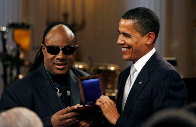 Obamas Honor Stevie Wonder at White House