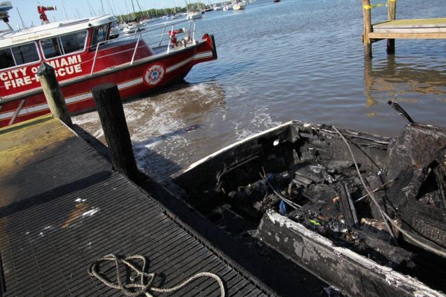 Family Escapes Boat Fire at Dinner Key Marina