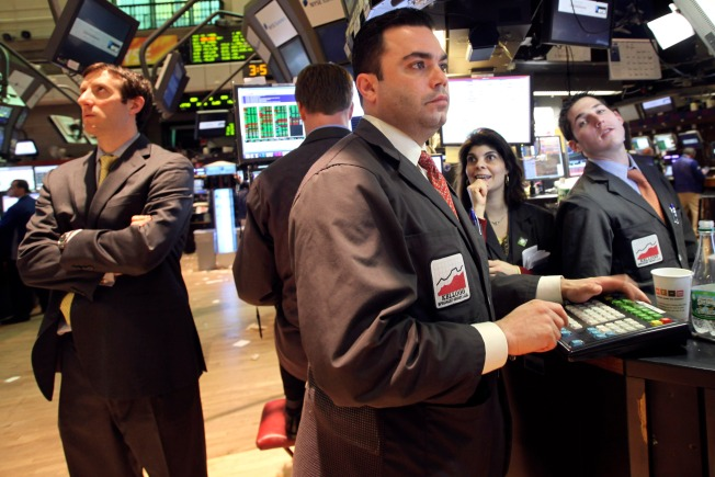Dow Closes at Nearly 8,000