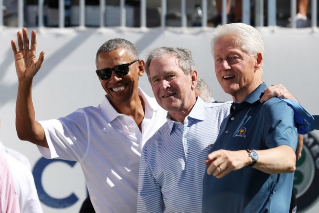 Golfer Phil Mickelson Takes Epic Selfie With Obama, Bush and