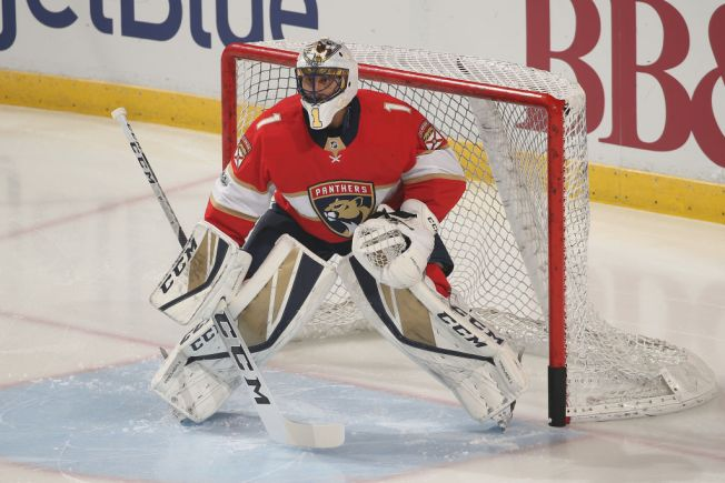 Panthers goalie Roberto Luongo leaves Islanders game with injury