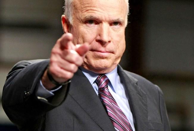 "McCain on Obama: ""Disgraceful''"