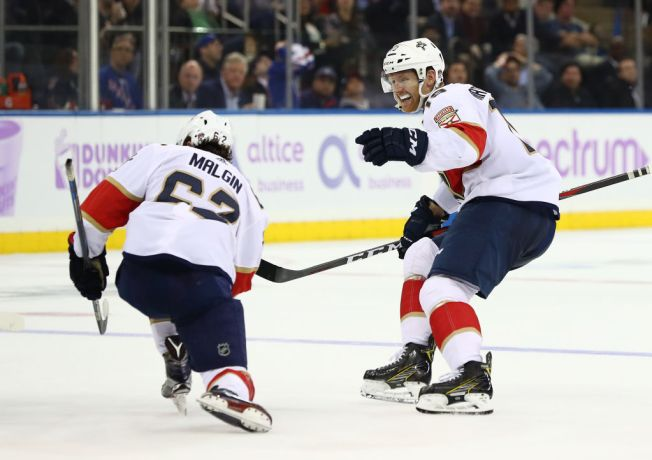 Late Goal Lifts Florida Panthers to 5-4 Win Over New York Rangers