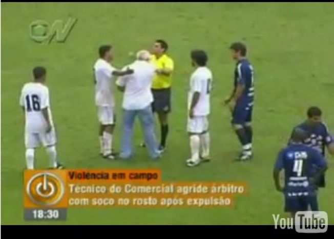 Brazilian Soccer Coach Punches Ref In The Face