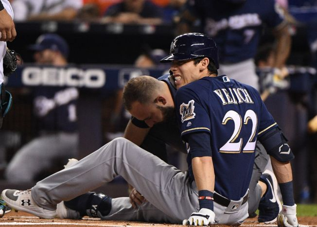 Milwaukee Brewers Beat Miami Marlins, Lose Star Outfielder to Knee Injury