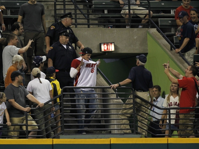 Heroic Heat Jersey Kicked Out of Cleveland Indians Game