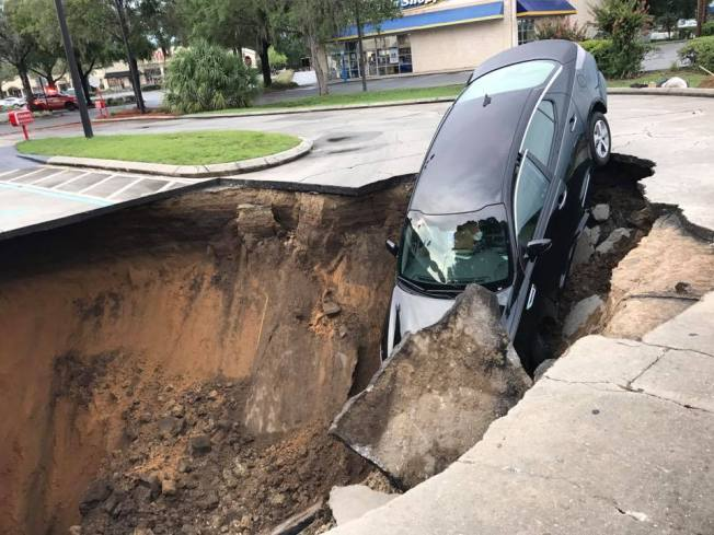 Sinkhole Swallows Car in Ocala