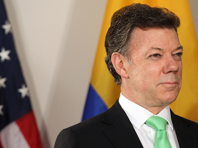 Colombian President Juan Manuel Santos Calderón Speaks at the University of Miami