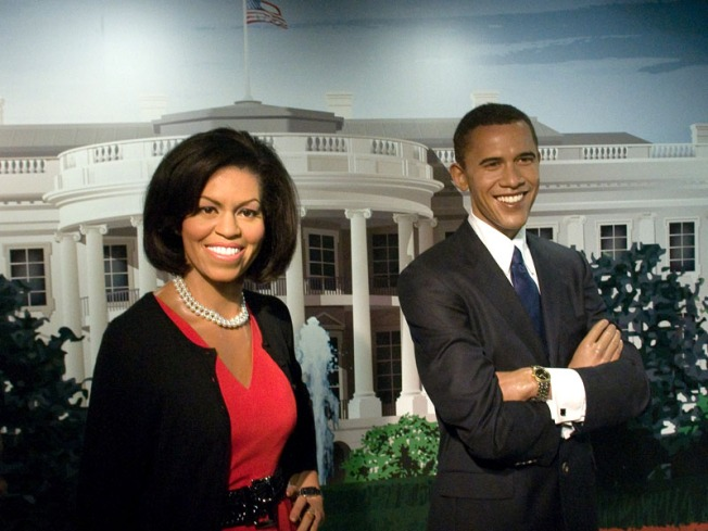 Obama Girls Visit Wax Versions of Their 'rents