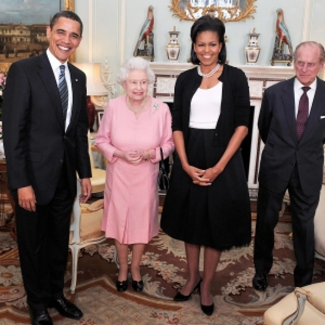 Obamas Step Out For Tea With The Queen; First Lady Scores High Fashion Marks From UK Press