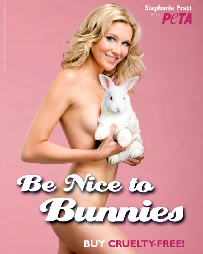 """Hills"" Star Stephanie Pratt Bares All For PETA"