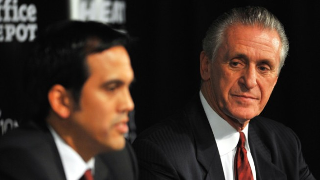 Pat Riley Wants To Keep Miami Heat's Big Three Together for 8-10 Years