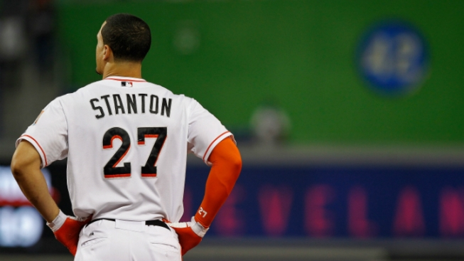Marlins' Stanton Mum on Fire Sale