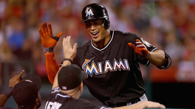 Stanton Hits 150th Career Home Run in Marlins Win