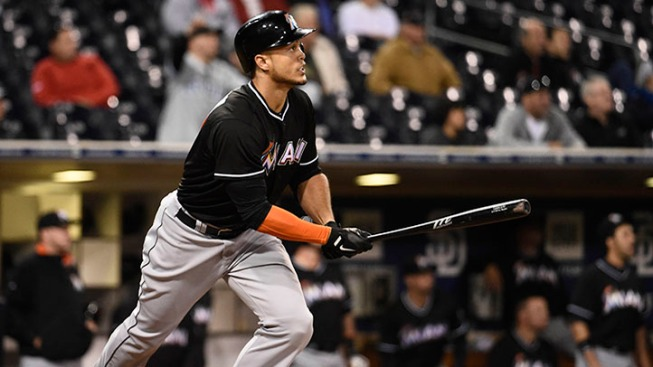 Stanton Blasts Marlins Into First Place in 11th Inning