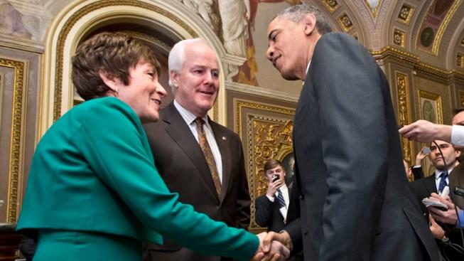 "Senate GOP Prods Obama But Praises ""Great"" Meeting"