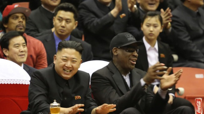 Rodman Says Kim Jong Un Wants to Talk Basketball with Obama