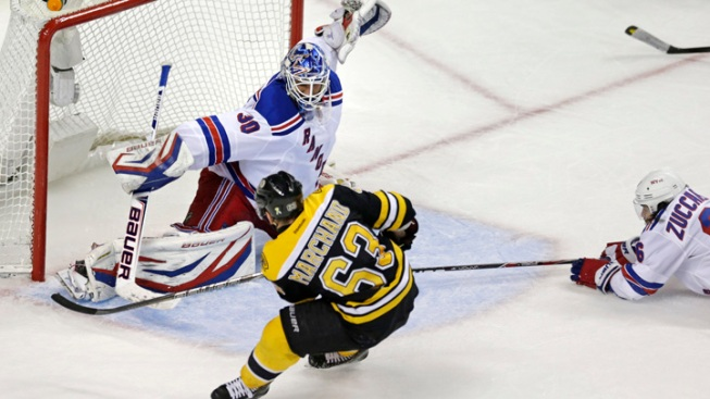 Bruins Beat Rangers in OT, Kings Shock Sharks