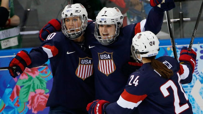 U.S. Women Shut Out Swiss 9-0 in Olympic Hockey