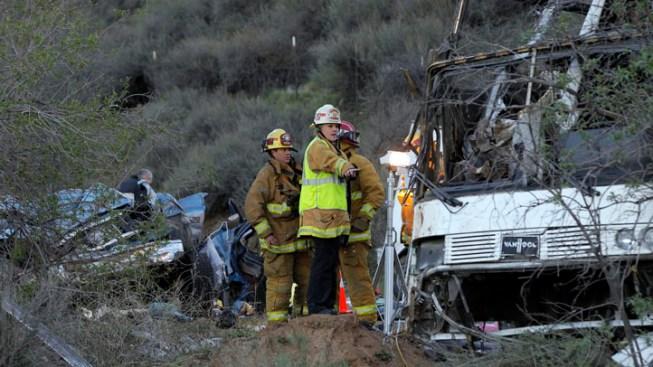 Eighth Victim Dies After Tour Bus Crash Near L.A.