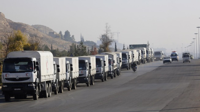 Second Aid Convoy Heads for Besieged Syrian Town of Madaya
