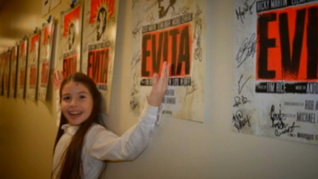 "Coral Gables Third-Grader Enjoying Role in ""Evita"" on Broadway"