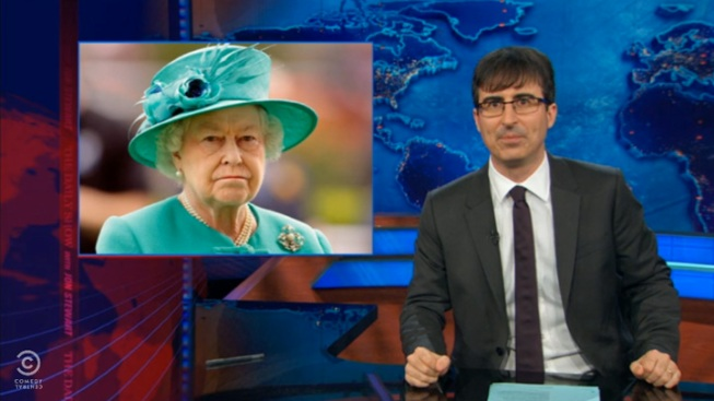 "WATCH: ""Daily Show"" Jabs at Queen During Royal Birth Segment"
