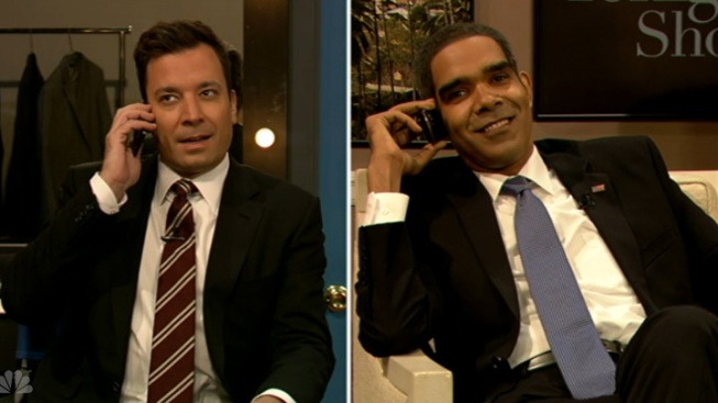 Fake Obama Calls Fallon After Leno Appearance