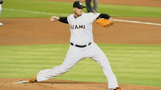 Koehler pitches 7 innings, Marlins win 2-0 against Giants