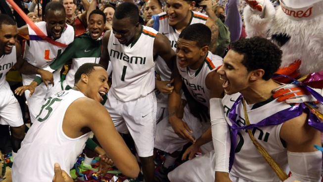 Miami Hurricanes Win 1st ACC Tournament Title in 87-77 Victory Over North Carolina