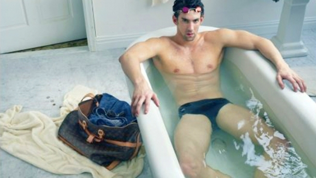 Phelps Goes Back in the Water with Louis Vuitton