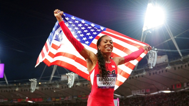 Richards-Ross Takes Gold, Gatlin Bronze in Track Finals