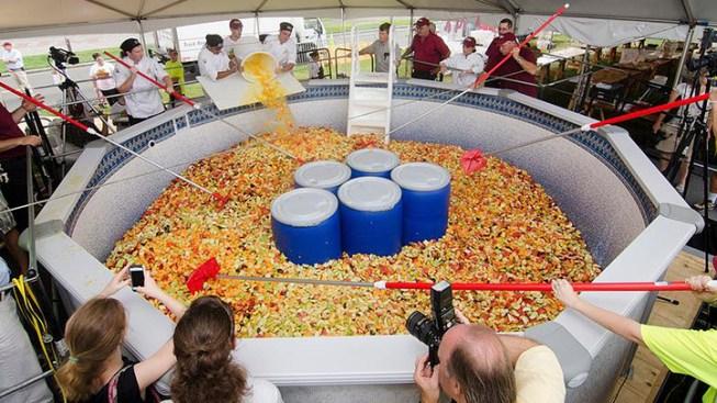 UMass Students Break World Record With 15,000 Pound Fruit Salad