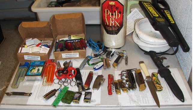 Man With Bag Full of Knives Arrested at JFK Airport