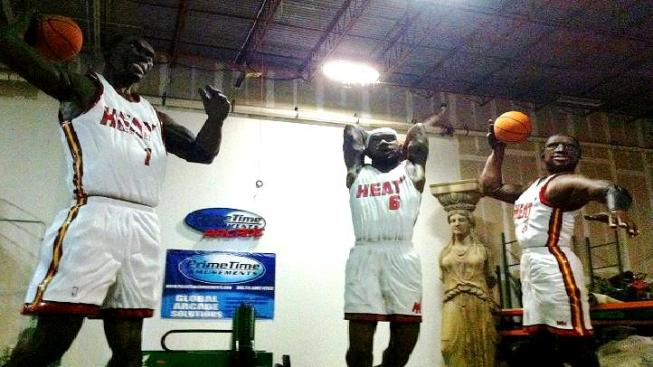 "The Heat's ""Really Big Three"" Foam Statues Completed"