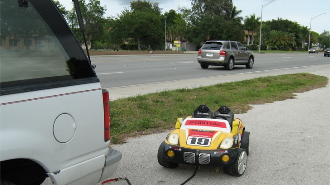 Grandparents Use SUV To Pull Girl In Toy Car: Sheriff's Office