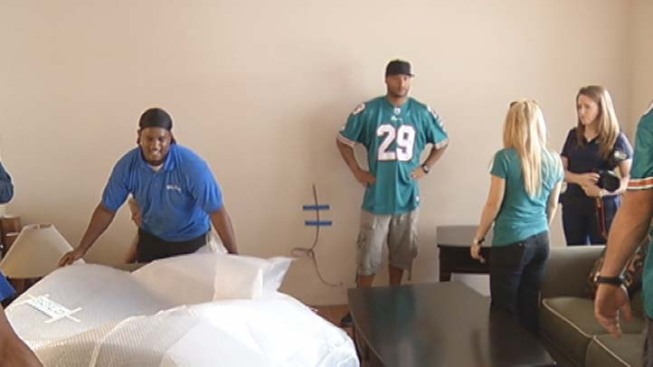 Miami Dolphins Players Help Make Over Family's Home