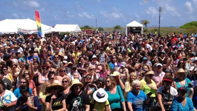Miami Beach Gay Pride Parade Draws Crowds to Ocean Drive