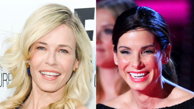 "Sandra Bullock, Chelsea Handler Give Eyeful on ""Lately"" Opener"