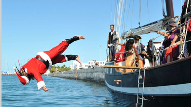 Pirate Impersonators Walk the Plank in Key West