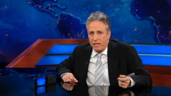 "Jon Stewart Jabs Romney for ""Pandering"" to Southern Voters"