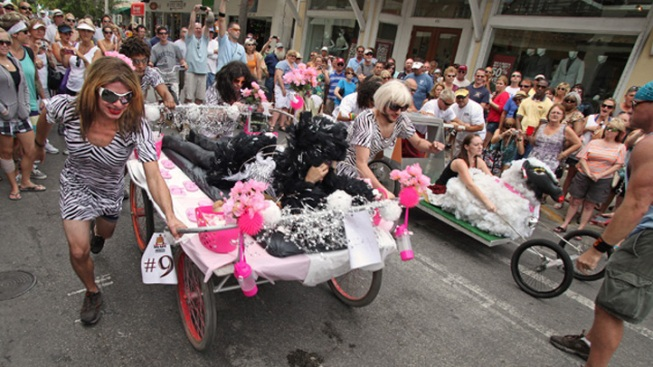 Key West Bed Race Honors Independence Celebration