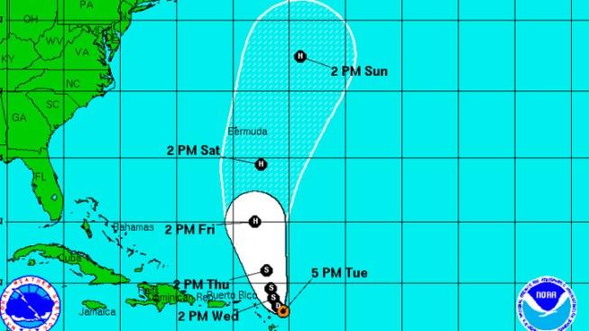 Tropical Depression Ophelia Reforms