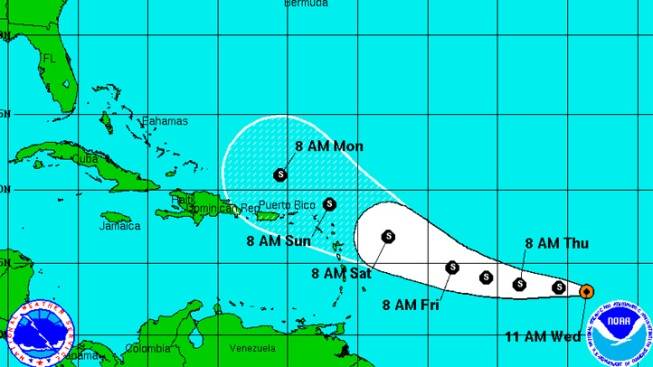 Tropical Storm Ophelia Forms in Atlantic