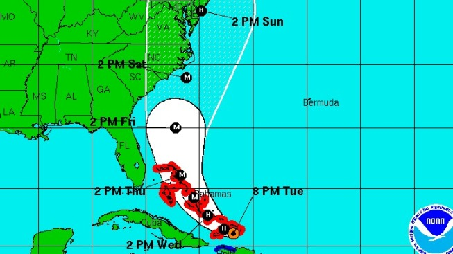 Irene Expected to Stay East of Florida