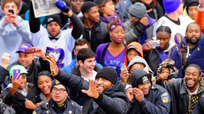 Thousands of Fans Celebrate Ravens Super Bowl Win