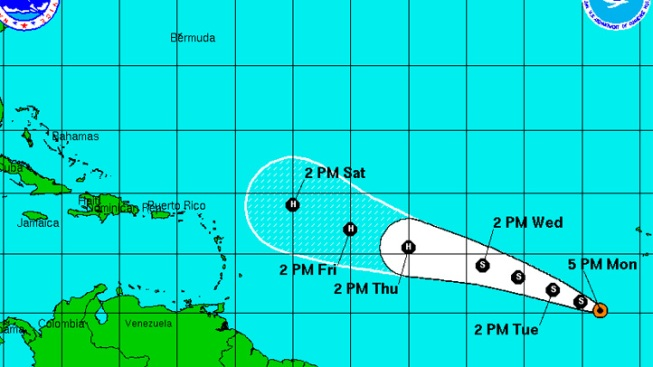 Atlantic Depression Could Strengthen to Tropical Storm Overnight