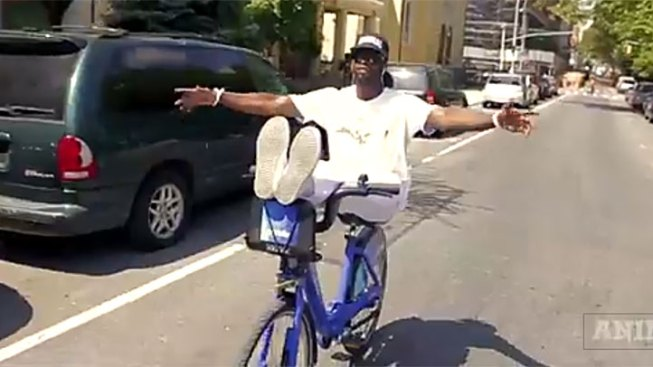 Cyclist Does Tricks on Citi Bike in Viral Video
