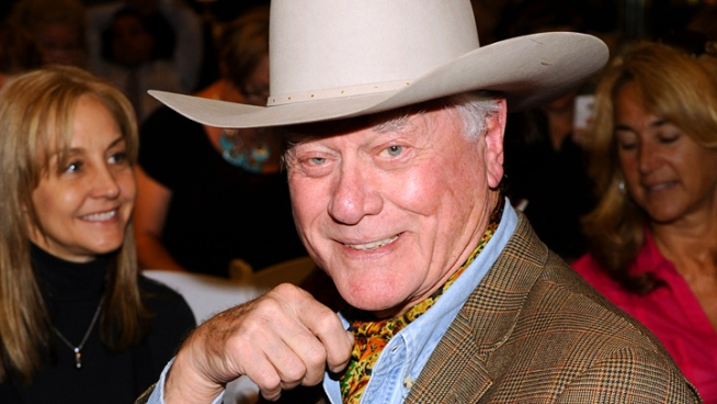 Larry Hagman reprises his role as J.R. Ewing in the upcoming
